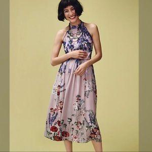 Anthropologie Varun Bahl floral dress size 10